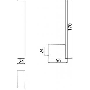 Держатель для запасного рулона Emco Loft Black, 0505 133 01