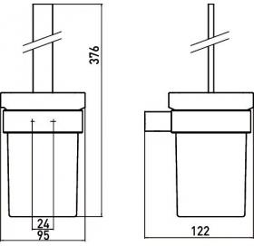 Туалетный ёршик с колбой Emco Loft Black, 0515 133 00