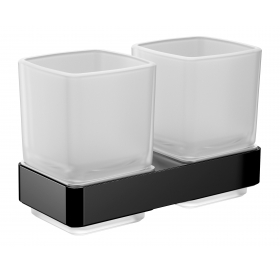 Стаканы для зубных щеток с двойным держателем Emco Loft Black, 0525 133 00