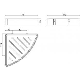 Угловая полочка для ванной комнаты Emco Loft Black, 0545 133 03