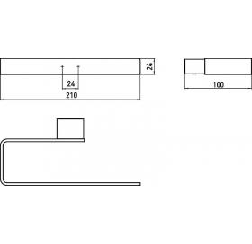 Полотенцедержатель Emco Loft Black, 055 513 300