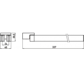 Двойной поворотный полотенцедержатель Emco Loft Black, 0550 133 31