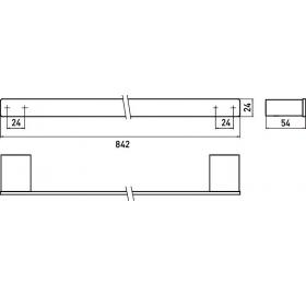 Полотенцедержатель Emco Loft Black, 0560 133 80