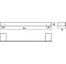 Полотенцедержатель Emco Loft Black, 0570 133 30