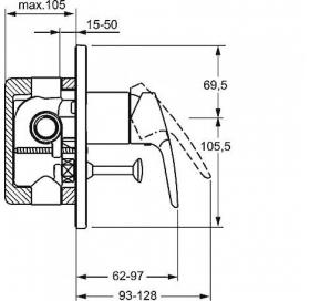 Внешняя часть  смесителя для ванны HANSA POLO 50607173