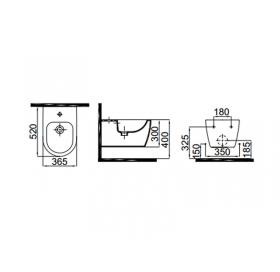 Биде подвесное Idevit Alfa 3106-2605-1201 с серебряным декором