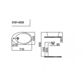 Умывальник Idevit Alfa 3101-0435