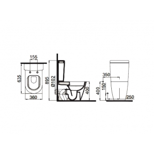 Унитаз-компакт Idevit Alfa Rimless SETK3104-0315-001-1-6200 с функцией биде и сидением