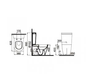 Унитаз-компакт Idevit Alfa Rimless SETK3104-0316-001-1-6200 с сидением Soft-Close Slim
