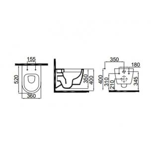 Унитаз подвесной Idevit Alfa Rimless SETK3104-2615-001-1-6000 с функцией биде и сидением Soft-Close