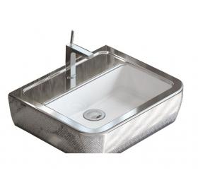 Умывальник Idevit Halley 3201-0455-1201 60 см с серебряным декором