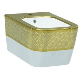 Биде подвесное Idevit Halley 3206-2605-1101 с золотым декором