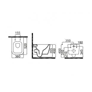 Унитаз подвесной Idevit Halley Rimless SETK3204-2616-001-1-6000 + сиденье Ultra Slim Soft-Close