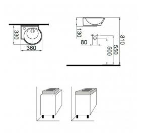 Умывальник Idevit Myra Mini 0201-0367 левый 36 см