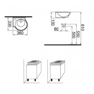 Умывальник Idevit Myra Mini 0201-0367-07 левый 36 см