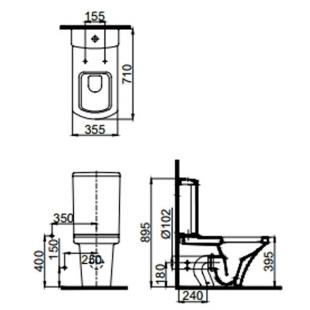 Чаша унитаза Idevit Vega 2804-0307 с функцией биде и вентилем