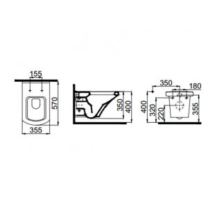 Унитаз подвесной Idevit Vega SETK2804-0606-071-1-6000 + сиденье Ultra Slim Soft-Close