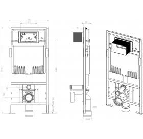 Инсталяционная система IDEVIT для подвесного унитаза, 53-01-04-009