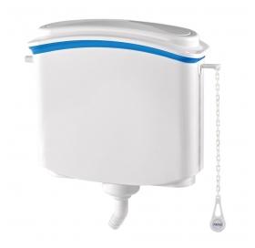 Бачок NOVA 4090 пластиковый для унитаза с кнопочным механизмом спуска воды и комплектом труб