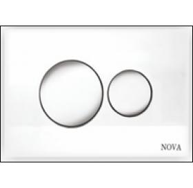 Кнопка NOVA 7310 для инсталляции серая круглая