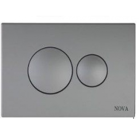 Кнопка NOVA 7311 для инсталляции серая круглая