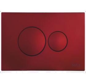 Кнопка NOVA 7313 для инсталляции красная круглая