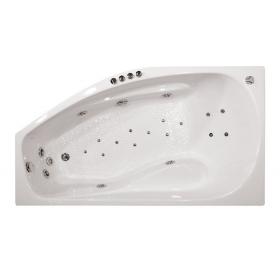 Гидроаэромассажная ванна Triton Скарлет левая 1670х960х580 (гидро+спинной+аэро)