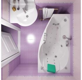 Ванна Triton Бриз Левая 1500х950х670 асимметричная (ванна+каркас+лицевой экран+с..