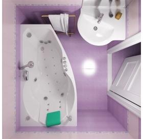 Ванна Triton Бриз правая 1500х950х670 асимметричная (ванна+каркас+лицевой экран+..