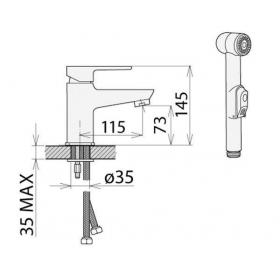 Смеситель Welle Mike для раковины с лейкой, FY16W23D-1347