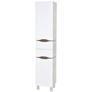 Пенал AQUA RODOS Венеция 40 см правый с корзиной для белья белый/венге, OC0000419
