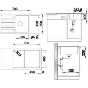 Кухонная мойка Blanco LEGRA 45S SILGRANIT® кофе, 522206