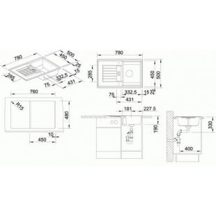 Кухонная мойка Blanco ZIA 45S SILGRANIT® PuraDur® алюметаллик, 514725