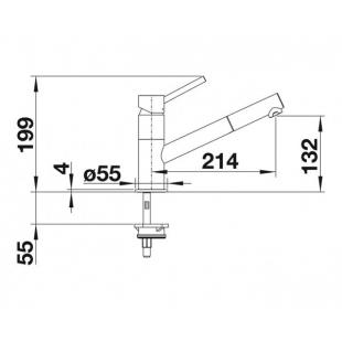 Кухонный смеситель Blanco KANO-S хром/антрацит 525038