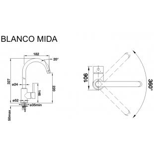 Кухонный смеситель Blanco MIDA хром 517742