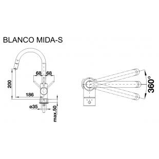Кухонный смеситель Blanco MIDA белый 521457