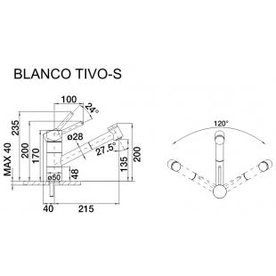 Кухонный смеситель Blanco TIVO-S хром 517648