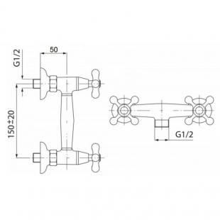 Смеситель для душа Qtap Dominox CRM 363