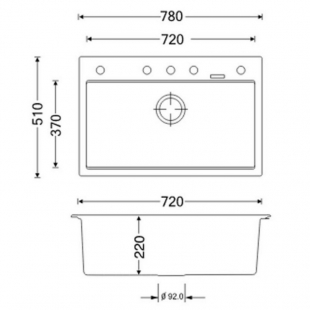 Кухонная мойка Apell Pietra Plus бежевая PTPL780GO