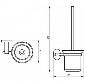 Ершик туалетный Qtap Liberty ORO 1157