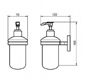 Дозатор жидкого мыла Qtap Liberty ORO 1152