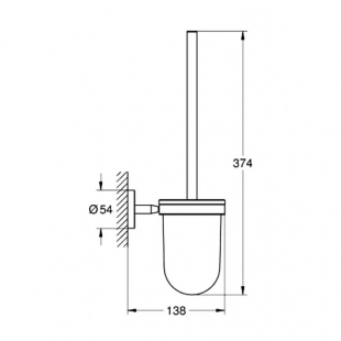 Ершик туалетный Grohe BauCosmopolitan 40463001