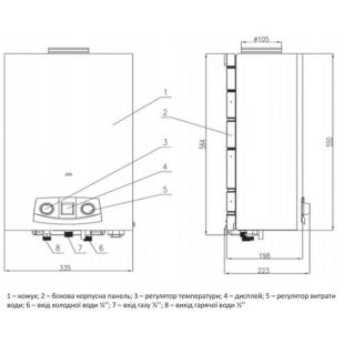 Колонка газовая дымоходная Thermo Alliance JSD20-10N-QB 10 л EURO+