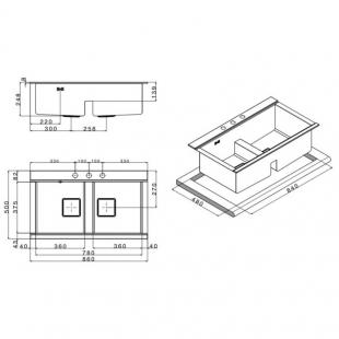 Кухонная мойка Apell Sinphonia Satin PD862IKITW