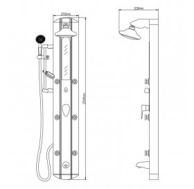 Душевая панель Qtap 1101 SIL