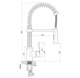 Смеситель для кухни Q-tap Tenso CRM 013F
