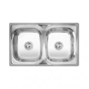 Кухонная мойка двойная Imperial 7948 Decor прямоугольная, IMP7948DEC