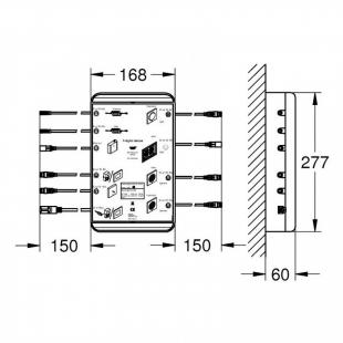 "Базовый блок Grohe F-digital Deluxe 4.0 Bluetooth F-Series 40"", 26374000"