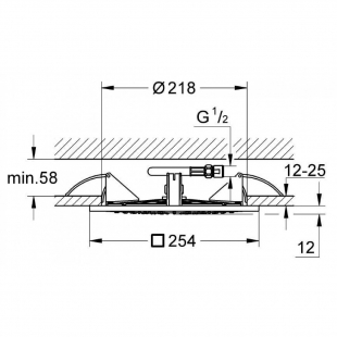 "Потолочный душ Grohe Rainshower F-Series 10"", 27467000"