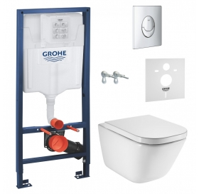 СЕТ: Grohe RAPID SL 4 in 1 + ROCA GAP  Clean Rim подвесной унитаз + soft (38721001+A34H47C000)